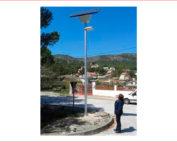 INSTAL.LACIONS PARERA, SL participa amb la instal.lació de fanals fotovoltaics a Canyelles...